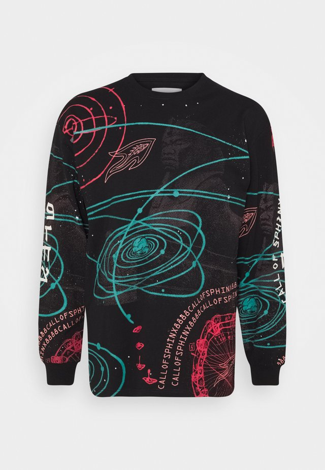 CALL OF YORE LONG SLEEVE TEE UNISEX - T-shirt med print - black