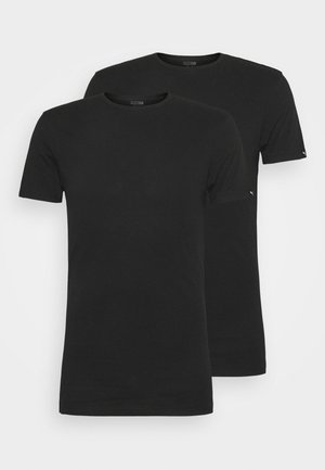 BASIC CREW TEE 2 PACK - Hemd - black