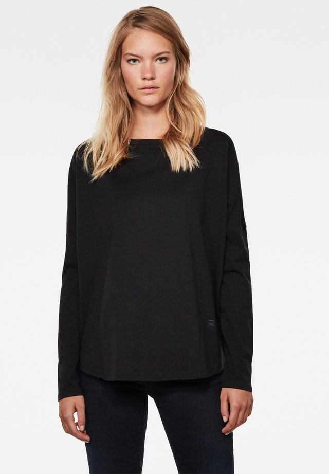 GSRAW GR LOOSE ROUND LONG SLEEVE - Long sleeved top - dk black