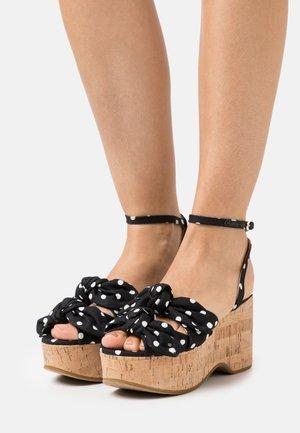 JULEP - Sandalias con plataforma - black/french cream