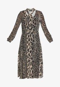 NEUTRAL ANIMAL TIE NECK MIDI DRESS - Day dress - stone