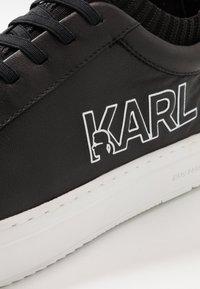 KARL LAGERFELD - KUPSOLE TRACER LOGO - Zapatillas - black - 5