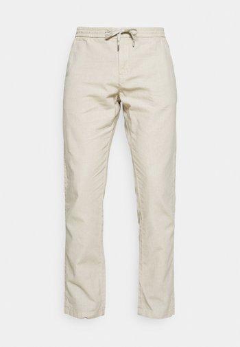 ELASTIC WAIST PANTS - Kalhoty - off white mix