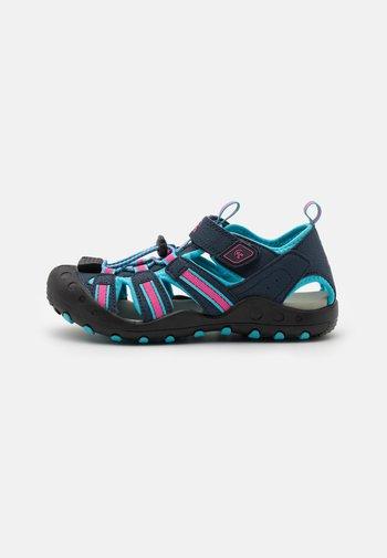 CRAB UNISEX - Walking sandals - navy teal/marine bleu sarcelle