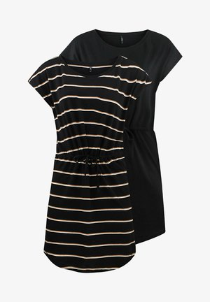 ONLMAY 2 PACK - Jersey dress - black double camel