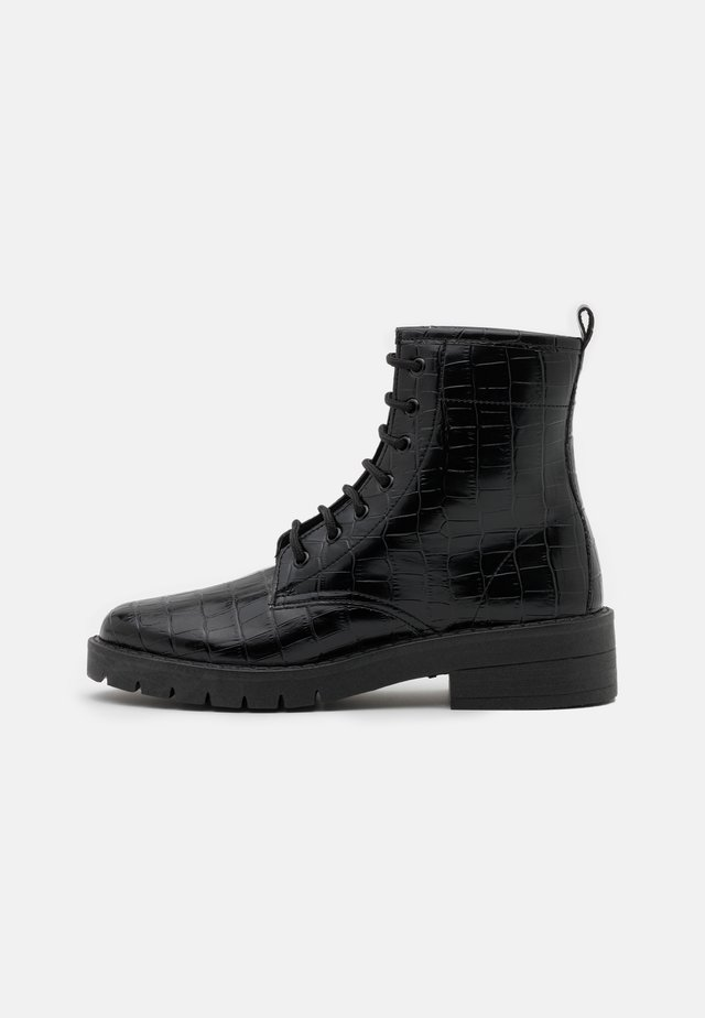 BUSTER LACE UP - Lace-up ankle boots - black
