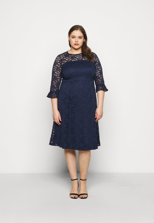 OCCASION 3/4 SLEEVE DRESS - Day dress - navy