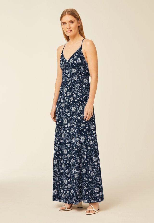 KLEID CHIFFON SPAGHETTI DRESS LONG - Vestito lungo - true blue