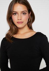 Missguided Petite - LONG SLEVE SCOOP BACK SKATER DRESS 2 PACK - Jersey dress - black/nude/white - 5
