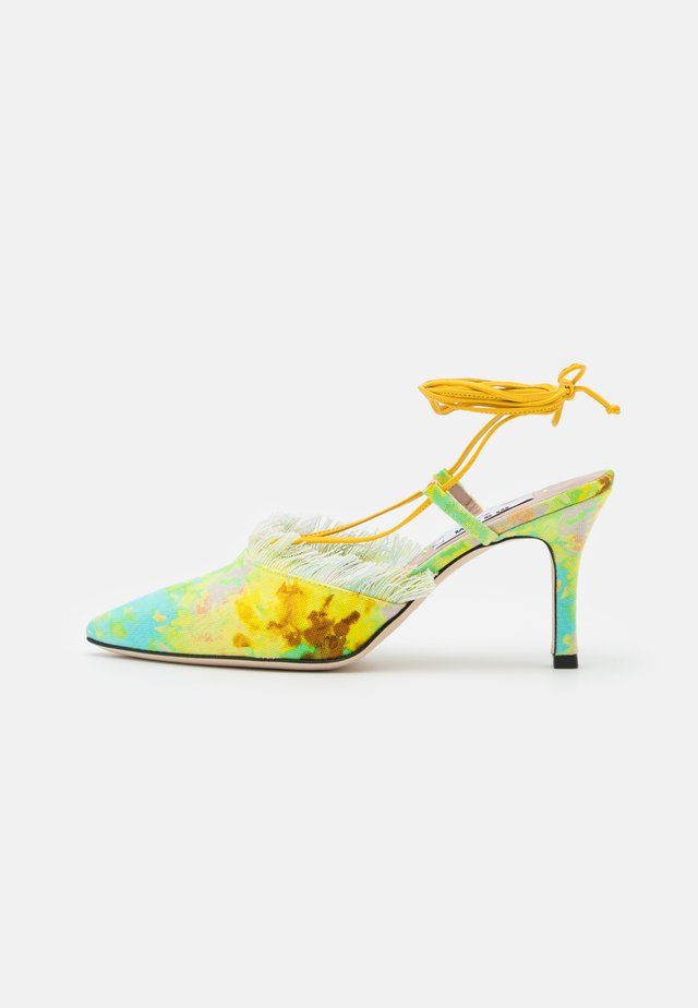 SCARPA DONNA WOMAN`S SHOES - Lace-up heels - yellow