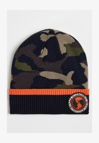 WE Fashion - JONGENS MET LEGERDESSIN EN TAPEDETAIL. - Beanie - dark blue - 0