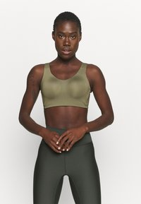 adidas Performance - ALPHA BRA - High support sports bra - olive - 0
