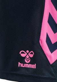 Hummel - HMLACTION  - Sports shorts - black iris/sugar plum - 4