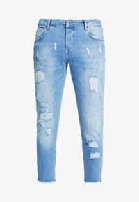 SIKSILK - RAW CUFF CROPPED - Jeans Skinny Fit - blue - 4