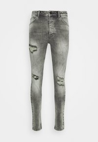 Gym King - WASHED RIP AND REPAIR - Jeans Skinny Fit - dark grey - 4