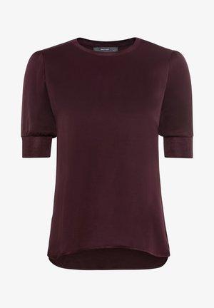 Print T-shirt - burgunder