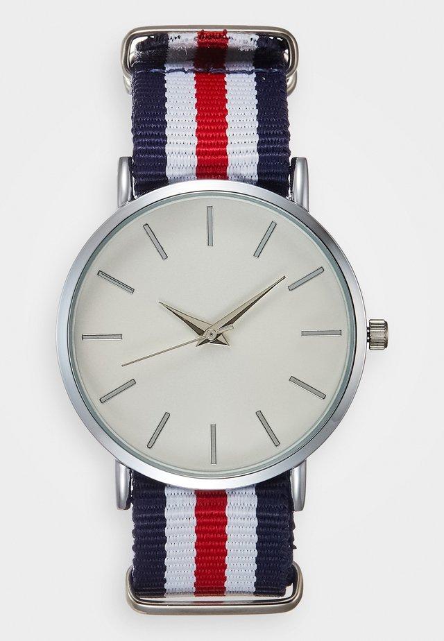 Reloj - silver-coloured/white/red