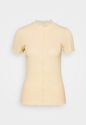PCLOANA TNECK TEE - Print T-shirt - almond oil
