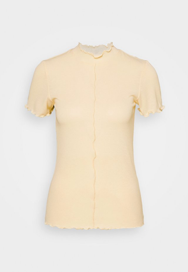 PCLOANA TNECK TEE - Print T-shirt - almond oil