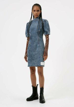 GRETCHEN - Denim dress - dark blue