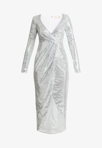 Nly by Nelly - SEQUIN WRAP GOWN - Gallakjole - silver - 4