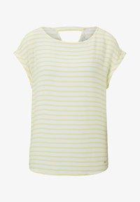 yellow white horizontal stripe