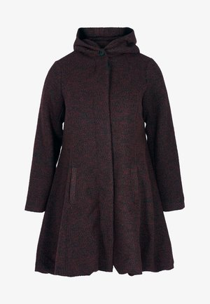 MIT WOLLE - Short coat - bordeaux