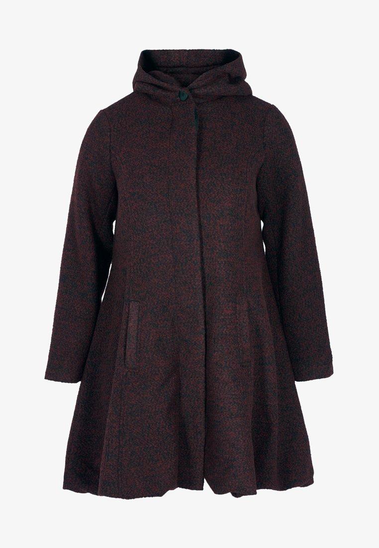 Zizzi - MIT WOLLE - Short coat - bordeaux