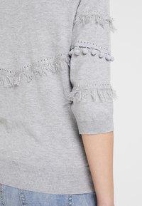 Cream - FARETTA - Jumper - light grey melange - 5