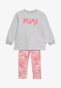 Puma - MINICATS GIRLS SET - Tracksuit - light gray heather - 4