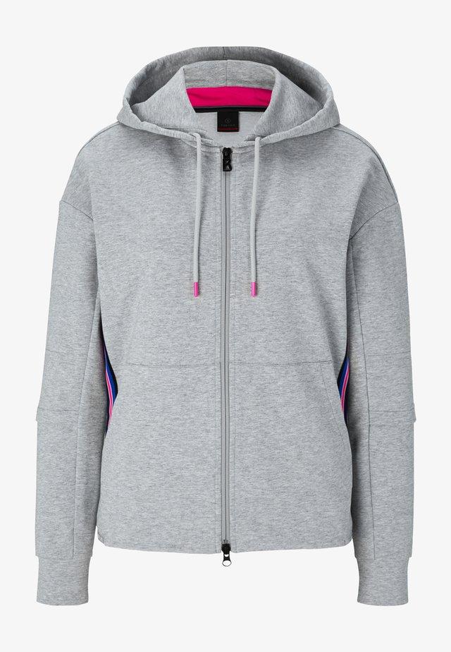 ERLA - veste en sweat zippée - grau meliert