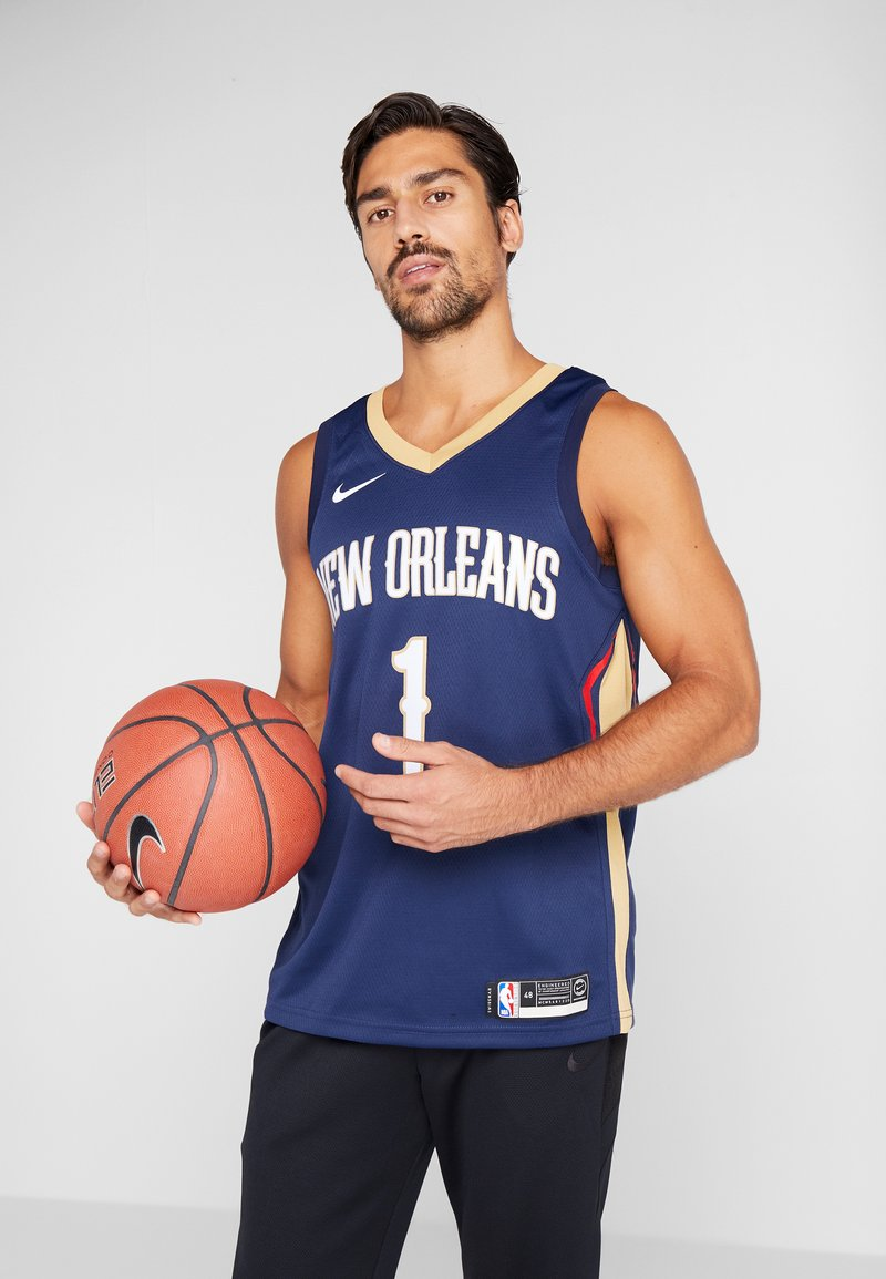 Nike Performance - NBA ZION WILLIAMSON NEW ORLEANS PELICANS SWINGMAN - Print T-shirt - college navy