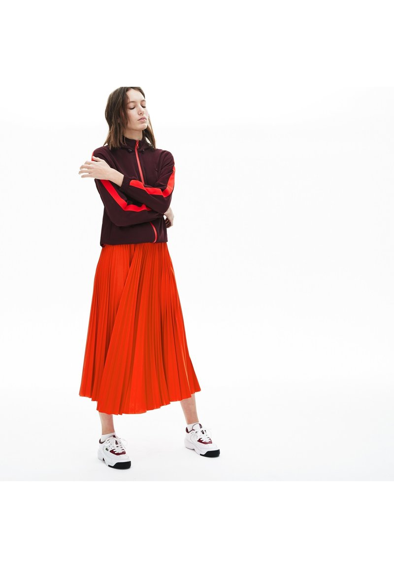 Lacoste - PLEATED SKIRT-JF5455 - Spódnica trapezowa - rouge
