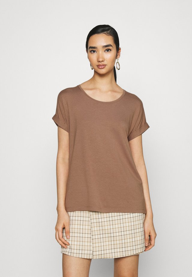 ONLMOSTER ONECK - T-shirt basic - brownie