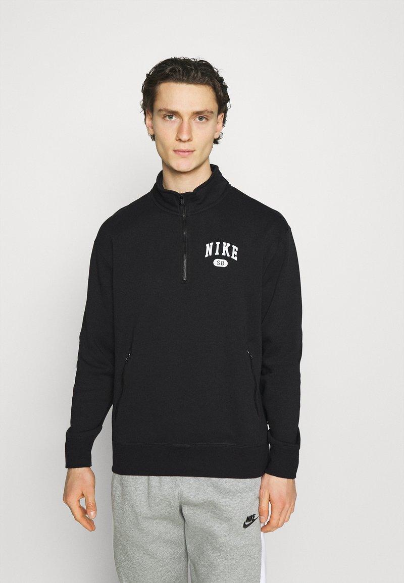 Nike SB - GRAPHIC MOCK UNISEX - Sweatshirt - black/white