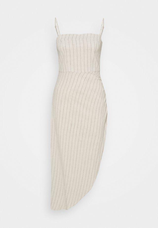 PICNIC STRIPE TUCK UP DRESS - Korte jurk - straw