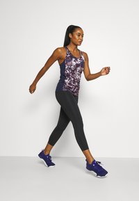 Under Armour - FLY BY PRINTED TANK - Sports shirt - purple - 1