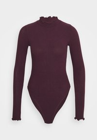 New Look - TURTLE NECK BODY - Long sleeved top - dark burgundy - 5