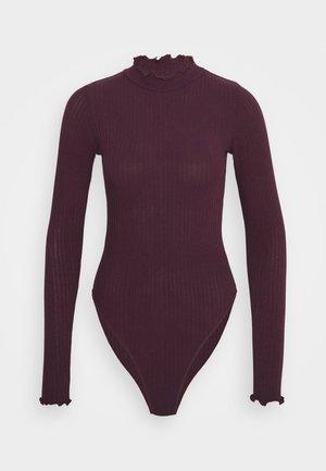 TURTLE NECK BODY - Long sleeved top - dark burgundy