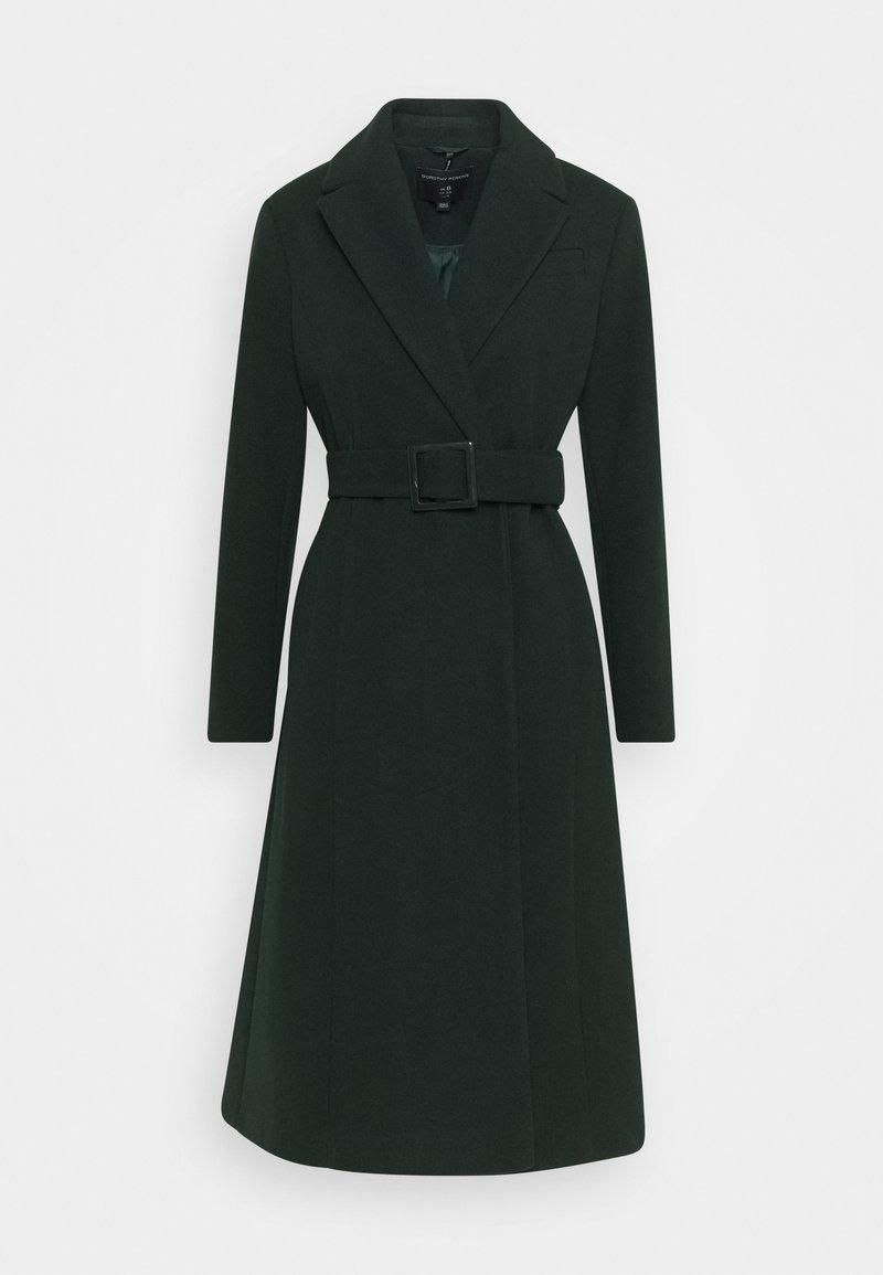 Dorothy Perkins - BELTED WRAP COAT - Classic coat - emerald green