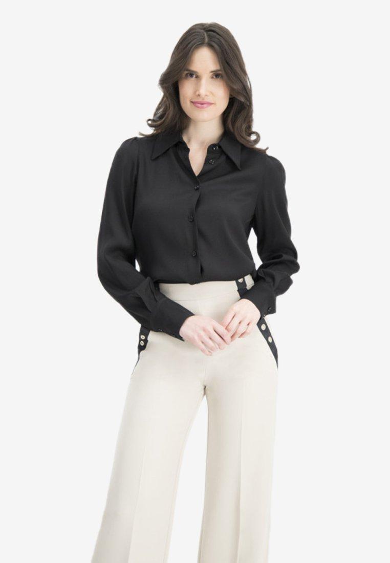 Nicowa - Button-down blouse - black