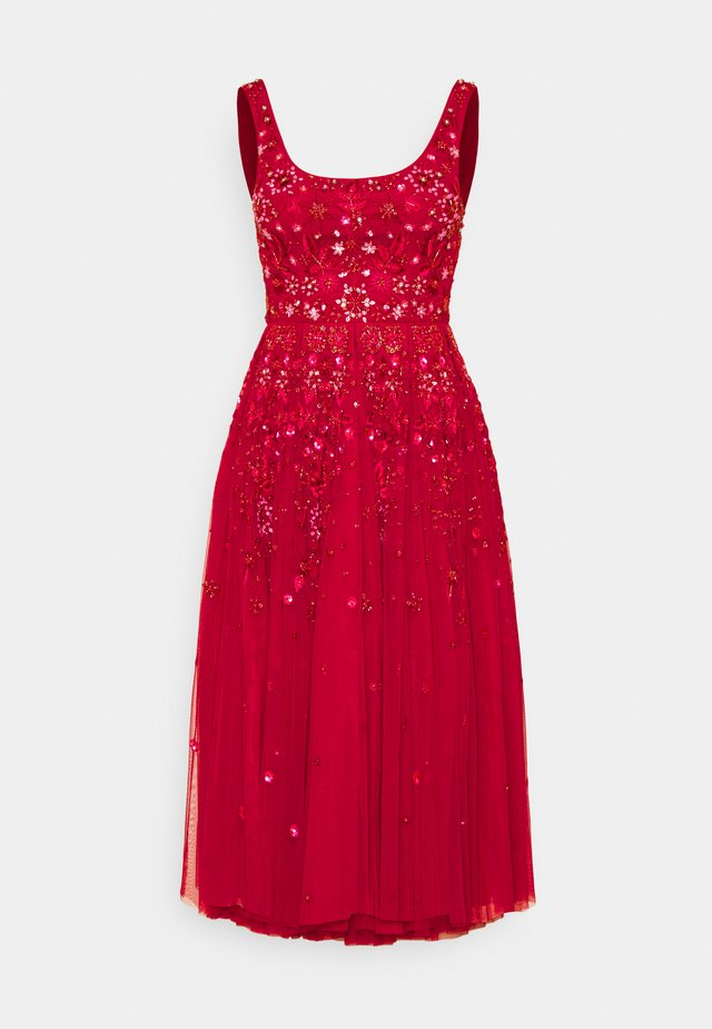SNOWFLAKE PROM EXCLUSIVE - Cocktail dress / Party dress - deep red