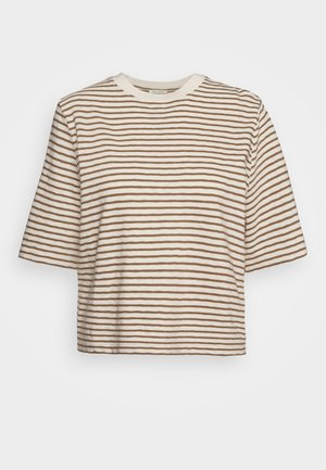BOXY CROPPED STRIPED - Print T-shirt - multi/ocker