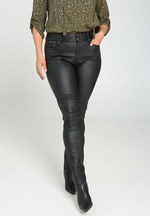 SLIM-FIT - Trousers - black