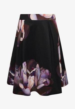 Jupe trapèze - dark floral