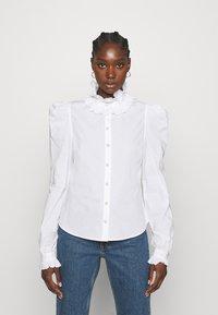 Custommade - BLANCA - Blouse - bright white - 0