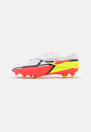 PHANTOM GT2 ACADEMY FLYEASE - Moulded stud football boots - white/bright crimson/volt
