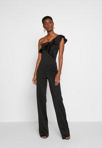True Violet Tall - FRILL ONE SHOULDER - Tuta jumpsuit - black - 0