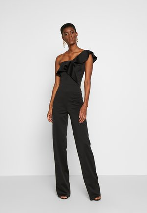 FRILL ONE SHOULDER - Mono - black
