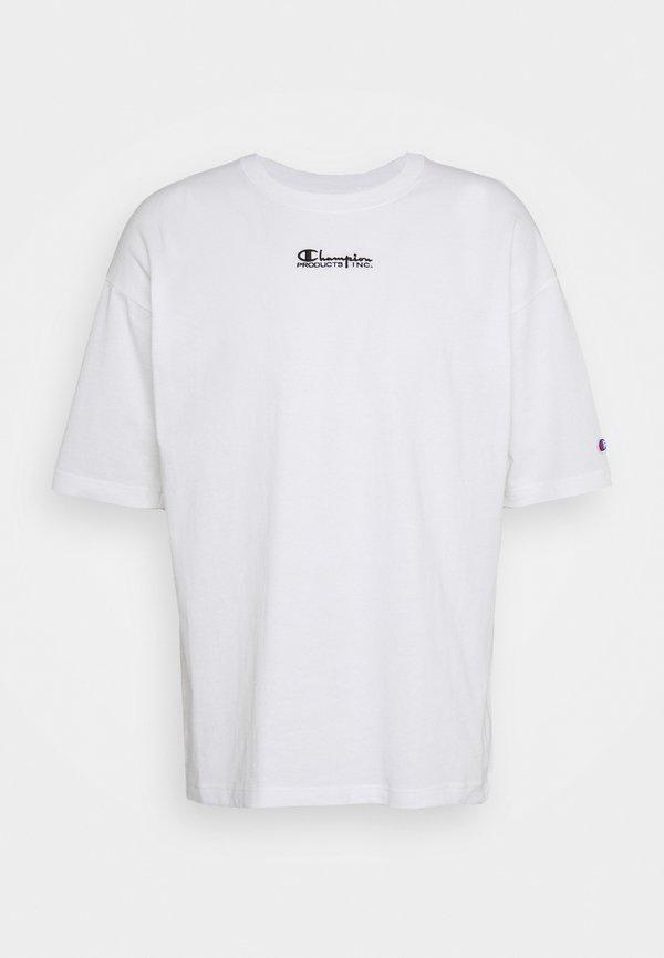 Champion Reverse Weave CREWNECK - T-shirt z nadrukiem - white/biały Odzież Męska FSRP